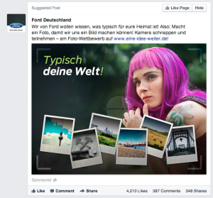 Ford - Was bewegt Deutschland? Facebook Sponsored Posts
